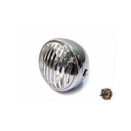 """Phare diamètre 6 3/4"""" chrome mat 3 avec grille - ampoule halogène H4/55W"""