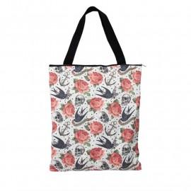 Tote Bag Skull and Roses