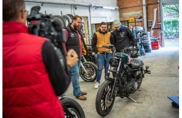 L'émission MotoClub de AutoMoto La Chaine s'est invitée chez Zombie Bikes Concept